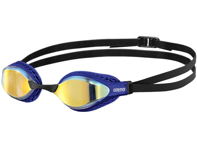 arena Airspeed Mirror Swimglasses yellow copper/blue